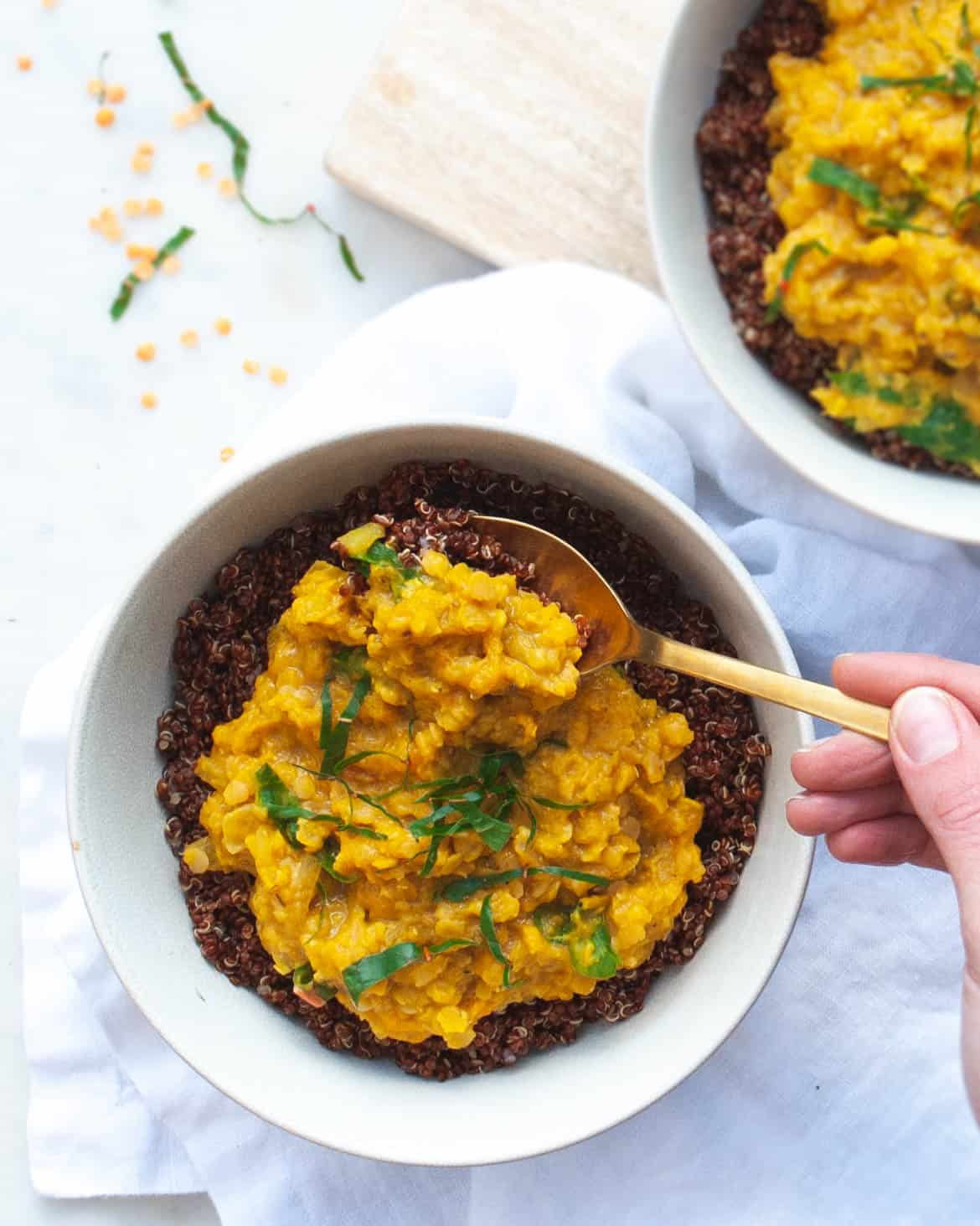 Red Lentil Dal with Pumpkin and Ginger