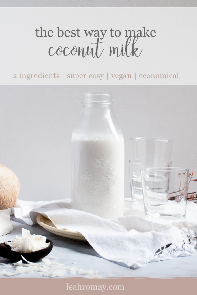 The easiest way to make coconut milk | fast | vegan | economical | cheap