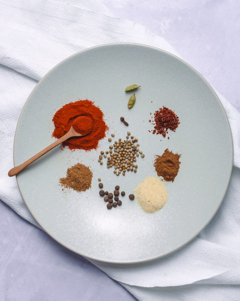 Spices for Moroccan spiced carrots